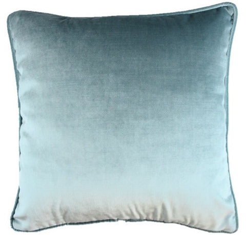 Velvet Shimmer Aqua Pillow Cover