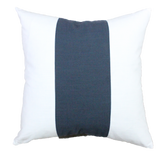 Navy Racer Stripe Pillow Cover