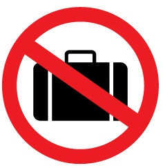 No luggages