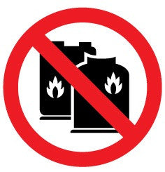 No gas cylinders