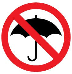 No umbrellas