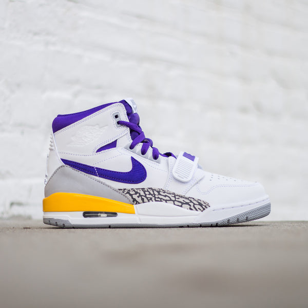 Air Jordan Legacy 312 - White/Field Purple-Amarillo