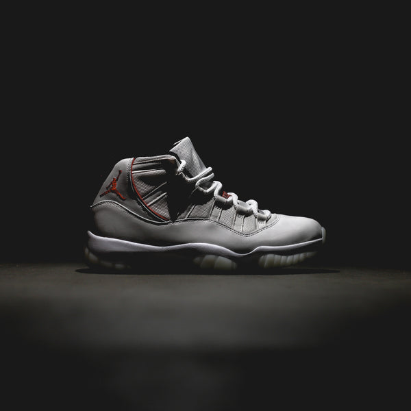 Air Jordan 11 Retro - Platinum Tint/Sail-University Red-Black