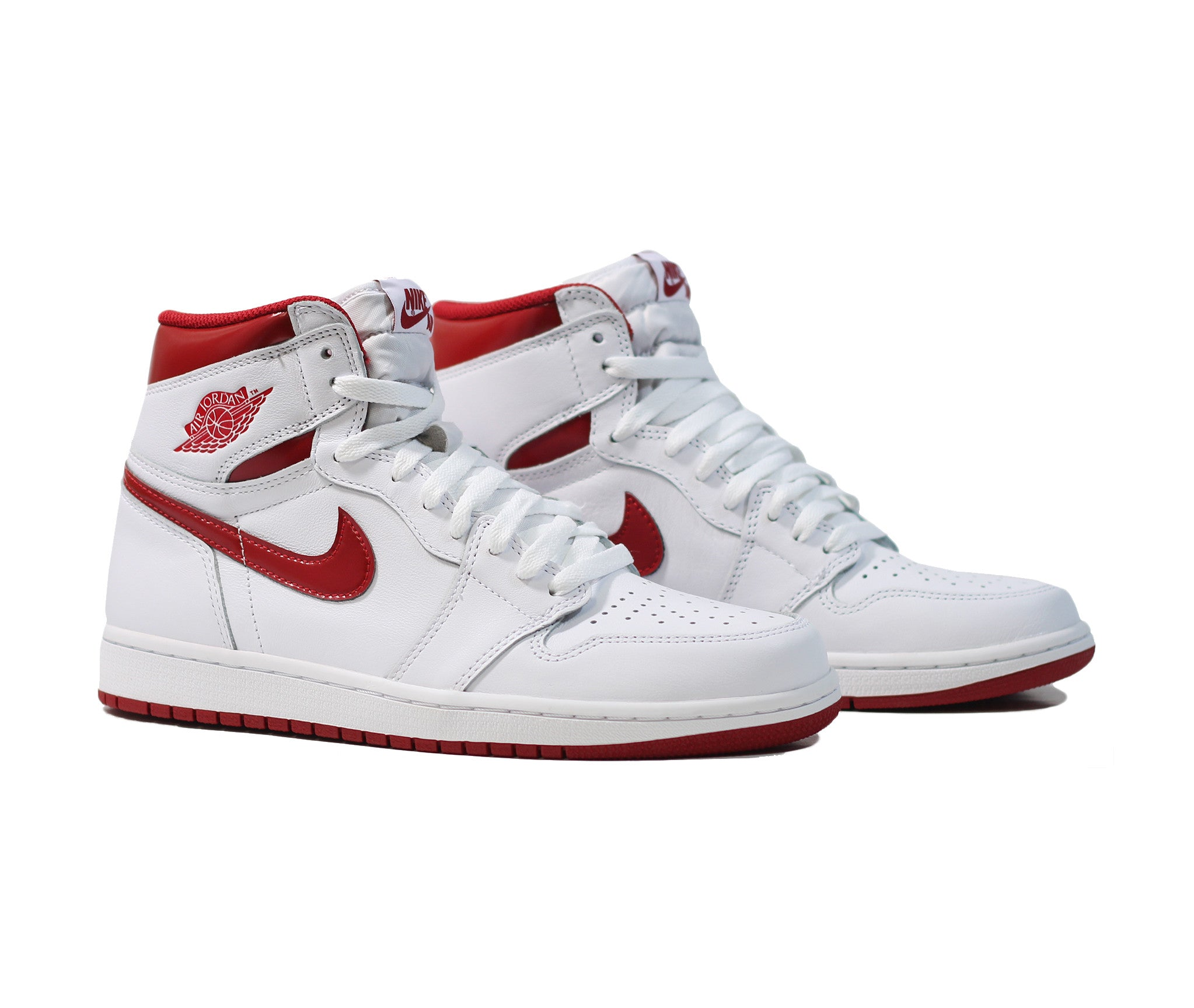 edad5157228 Air Jordan 1 Retro High OG 'Metallic Red' - Varsity Red/White – Sneaker  Lounge