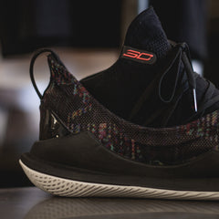 UA Curry 5 - Black/White-Neon Coral
