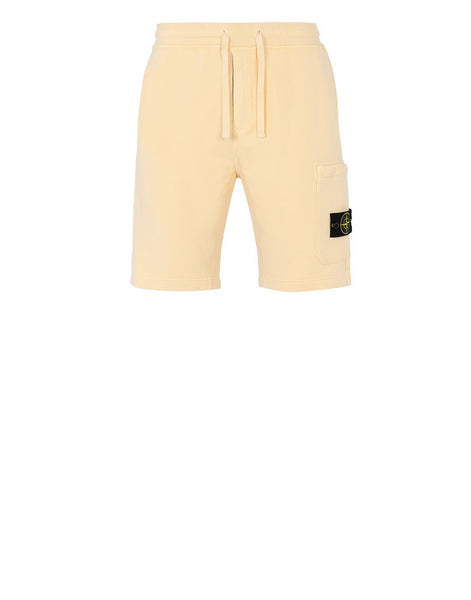 STONE ISLAND SWEAT CARGO SHORTS BUTTER