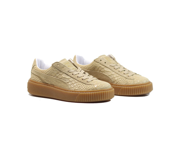 Puma Women's Platform Exotic Skin - Natural Vanchetta/Gold