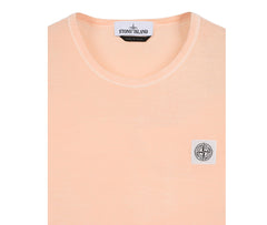 Stone Island 'Fissato' Dye Treatment T-Shirt - Salmon Pink