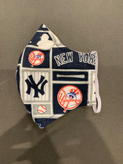 Kids Yankees Fabric Mask Handmade