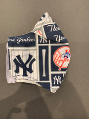 Adults Yankees Fabric Mask Handmade