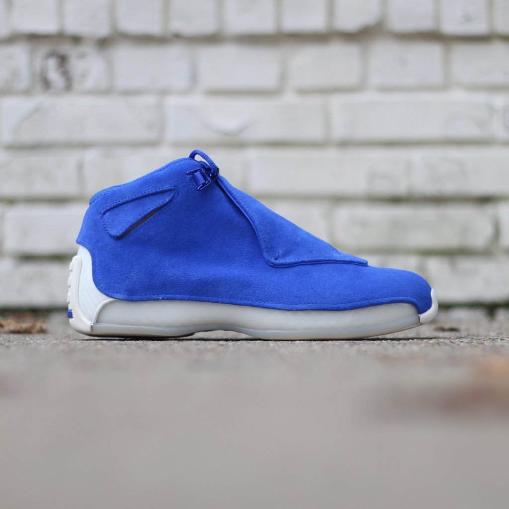 fa134cad5be890 Air Jordan 18 - Racer Blue – History of New York Powered by  Sneaker Lounge