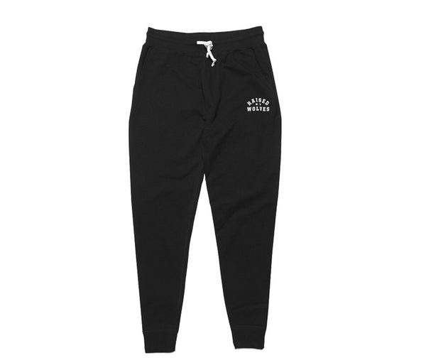 Raised by Wolves College Sweatpants - Black