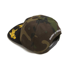 Raised by Wolves Death From Above Polo Cap - Woodland Camo