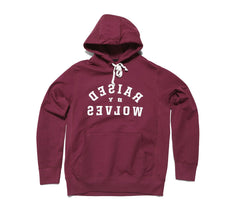 Raised by Wolves Mirror Hooded Sweatshirt - Wine