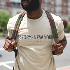 History of New York Coordinates T - Beige