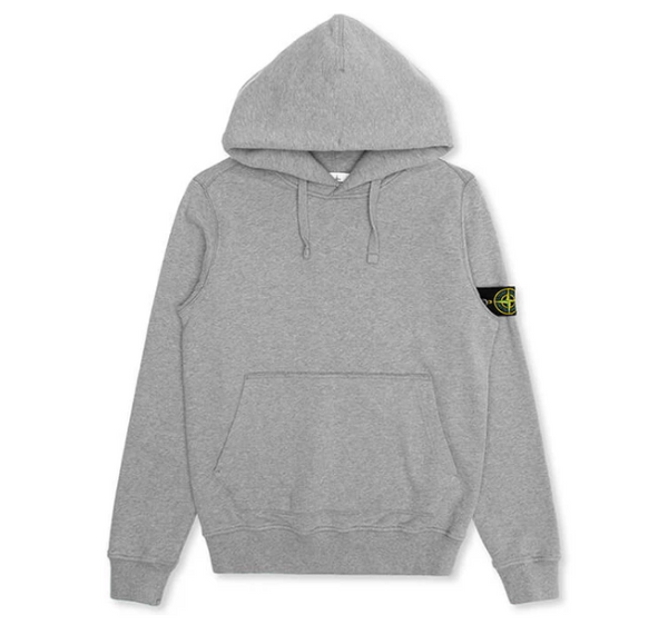 Stone Island Fleece Garment Dyed Hoody
