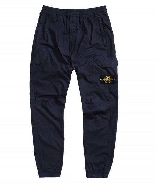 Stone Island Garment Dyed Stretch Cotton Pants