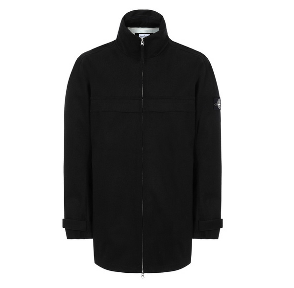 Stone Island Tank Shield Wool Jacket With Hood