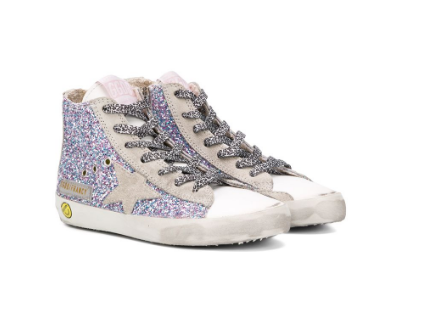 Golden Goose Fancy Glitter Hi-Top Francy Sneaker