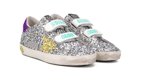 GOLDEN GOOSE KIDS SUPERSTAR GLITTER TRAINER