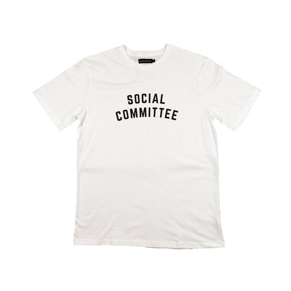 Raised by Wolves Social Committee T-Shirt - White