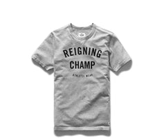 Reigning Champ Gym Logo Set-In T-shirt - Gray