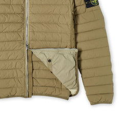 STONE ISLAND LOOM WOVEN LIGHTWEIGHT DOWN JACKET OLIVE GREEN