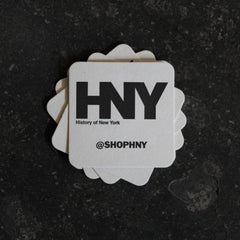 History of New York Logo Coasters