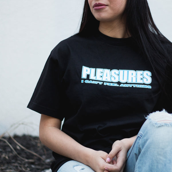 Pleasures I Can't Feel Anything Tee - Black