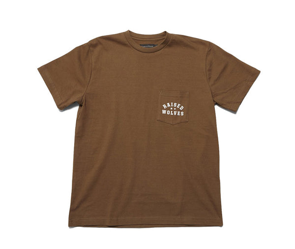 Raised by Wolves Mirror Pocket T-Shirt - Olive Brown