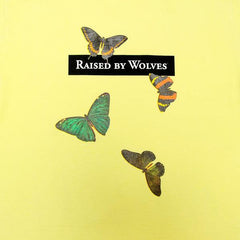 Raised By Wolves Butterflies Tee Lime