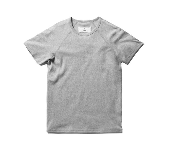 Reigning Champ Mesh Jersey Raglan T-Shirt - Heather Grey
