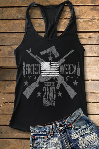 2nd Amendment Racerback Tank Top Tank Top - SouthernGirlApparel.com