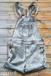 Women's Denim Bib Overall Shorts