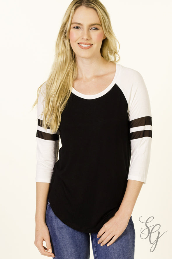 Vintage Style Football 3/4 Length Sleeve Top - Southern Girl