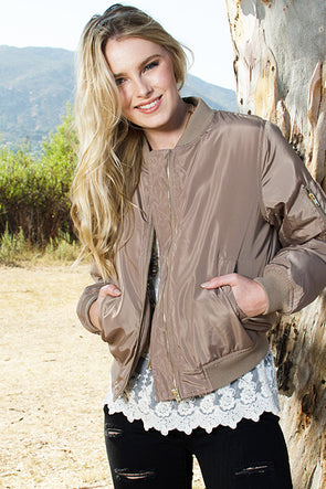Bomber Jacket - Southern Girl Apparel® - southengirlapparel.com