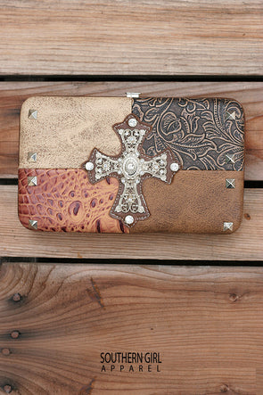 Leather & Cross Wallet - Southern Girl