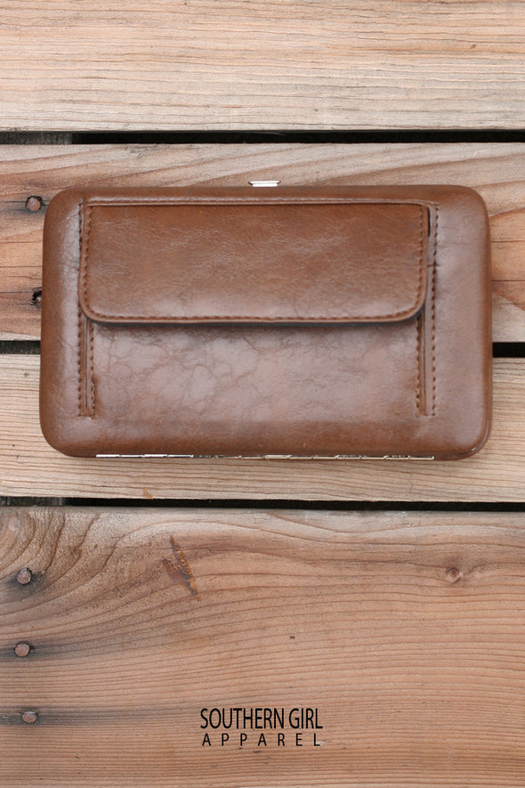 Leather & Cross Wallet - Southerngirlapparel.com