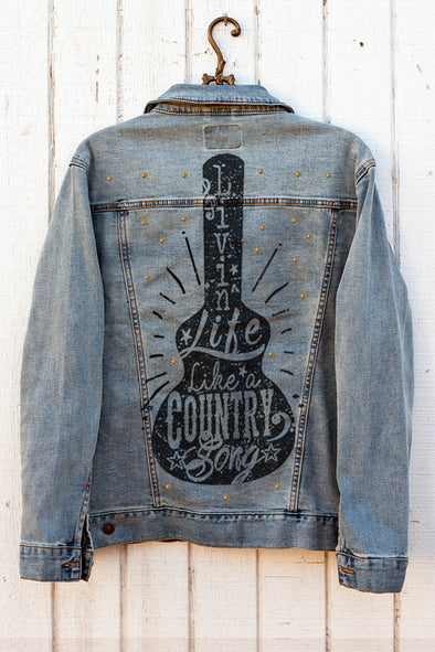 Livin' Life Like a Country Song Denim Jacket