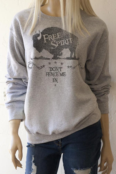 Free Spirit Don't Fence Me In Sweatshirt - Southern Girl Apparel® - southerngirlapparel.com