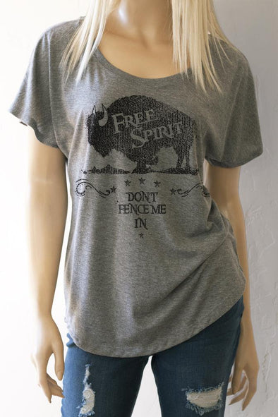 Free Spirit Scoop Neck Dolman Sleeve Top T-Shirts - SouthernGirlApparel.com