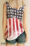 American Flag Red White & Blue Stars and Stripes standard Tank back - Southern Girl Apparel® - southerngirlapparel.com