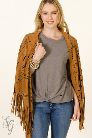Bohemian Style Fringed Wrap - Southern Girl Apparel® - southerngirlapparel.com