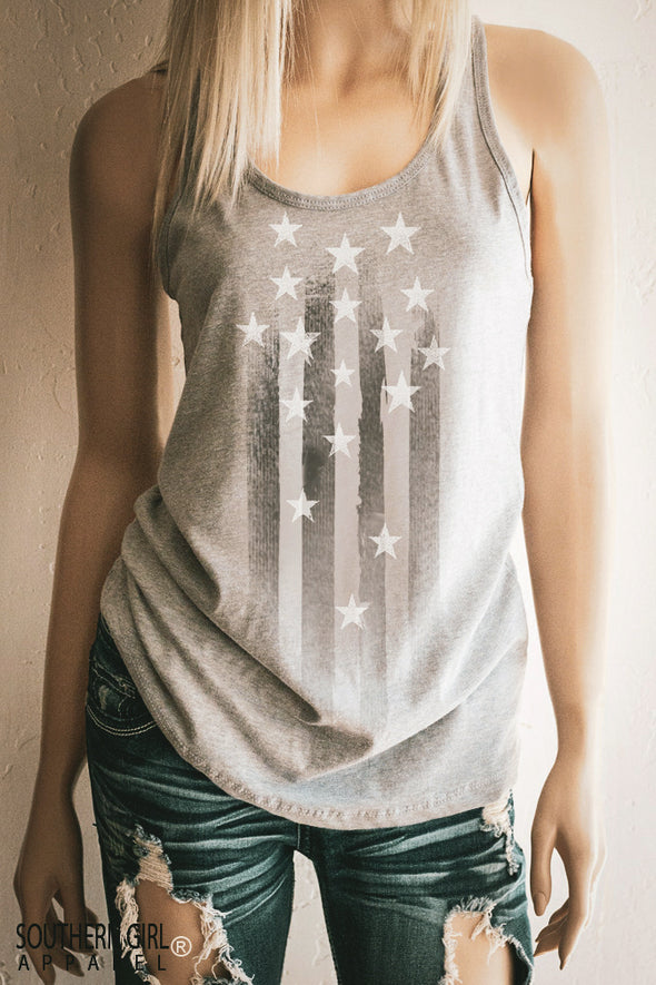 Stars and Stripes Women's Racerback Tank Top