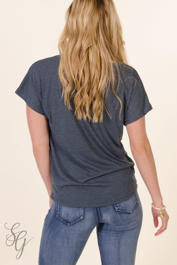 Indigo Blue Dolman Top back - Southern Girl Apparel® - southerngirlapparel.com