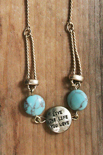 Live The Life You Love Adjustable Bracelet