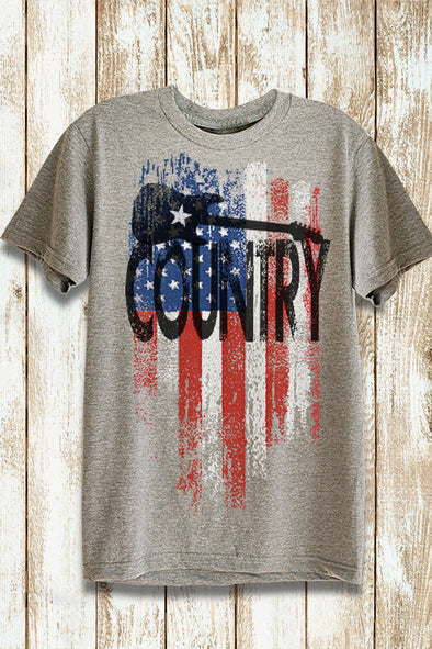 Red White & Blue American Flag Country T-Shirt T-Shirts - SouthernGirlApparel.com