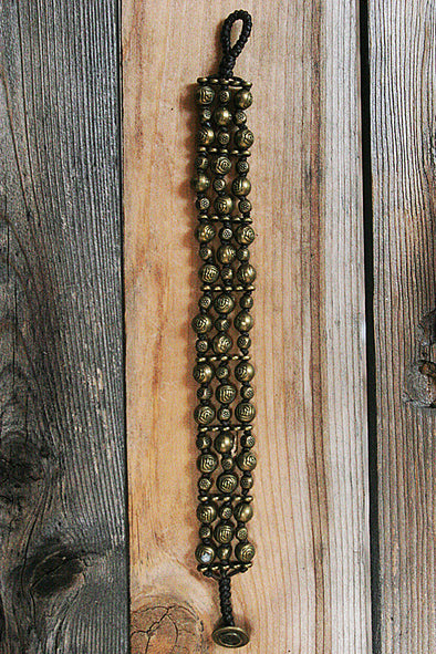 Multi-Strand Brass Beaded Bracelet - Southern Girl