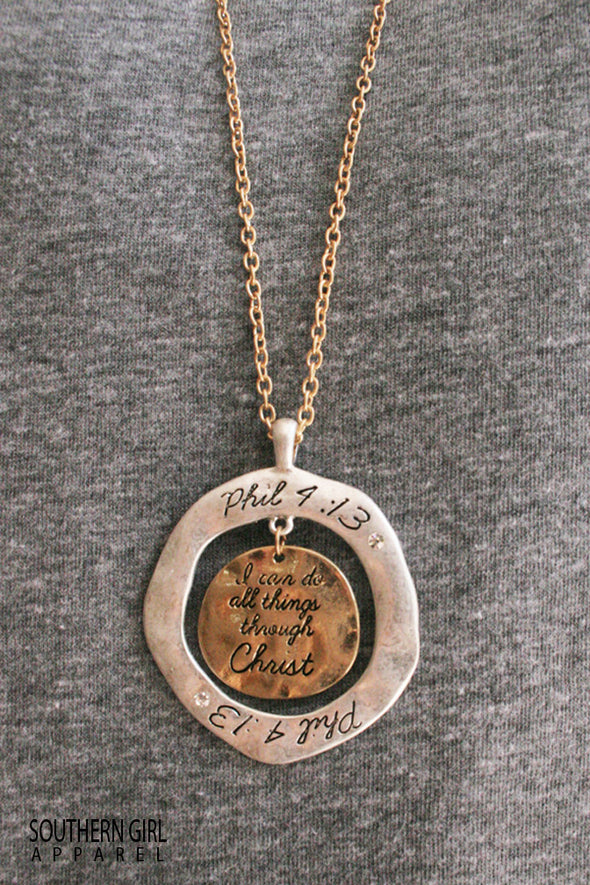 Phillipians 4:13 Necklace - Southern Girl