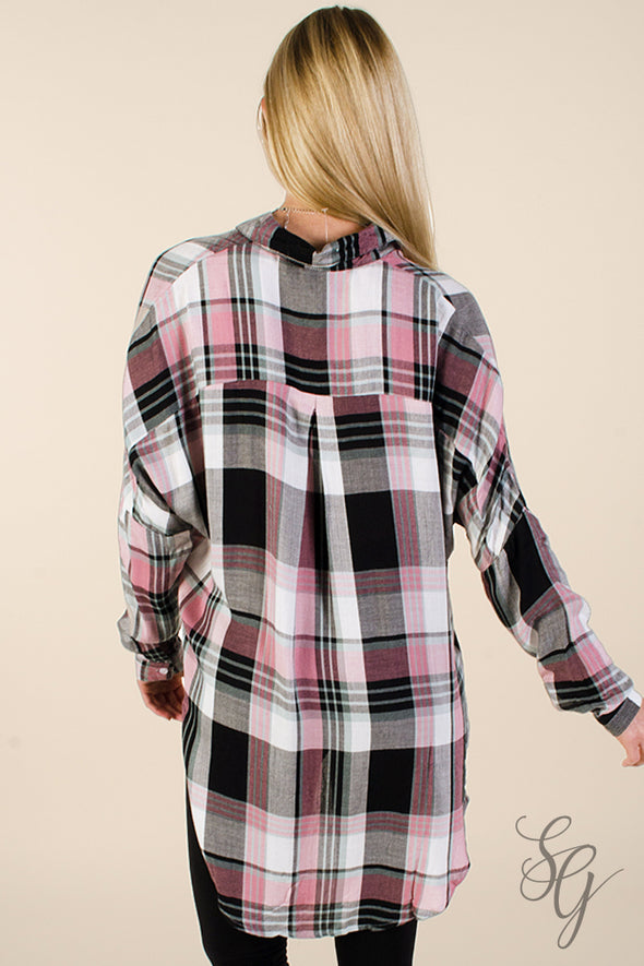 Women's Sweetie Pie Plaid Blouse Shirts & Blouses - SouthernGirlApparel.com